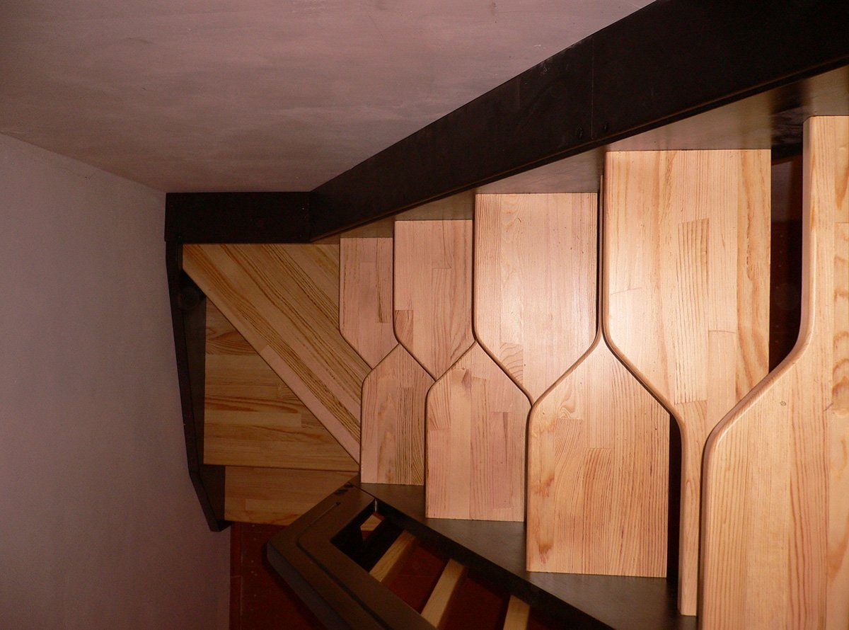 "Поворотная лестница ""гусиный шаг"""