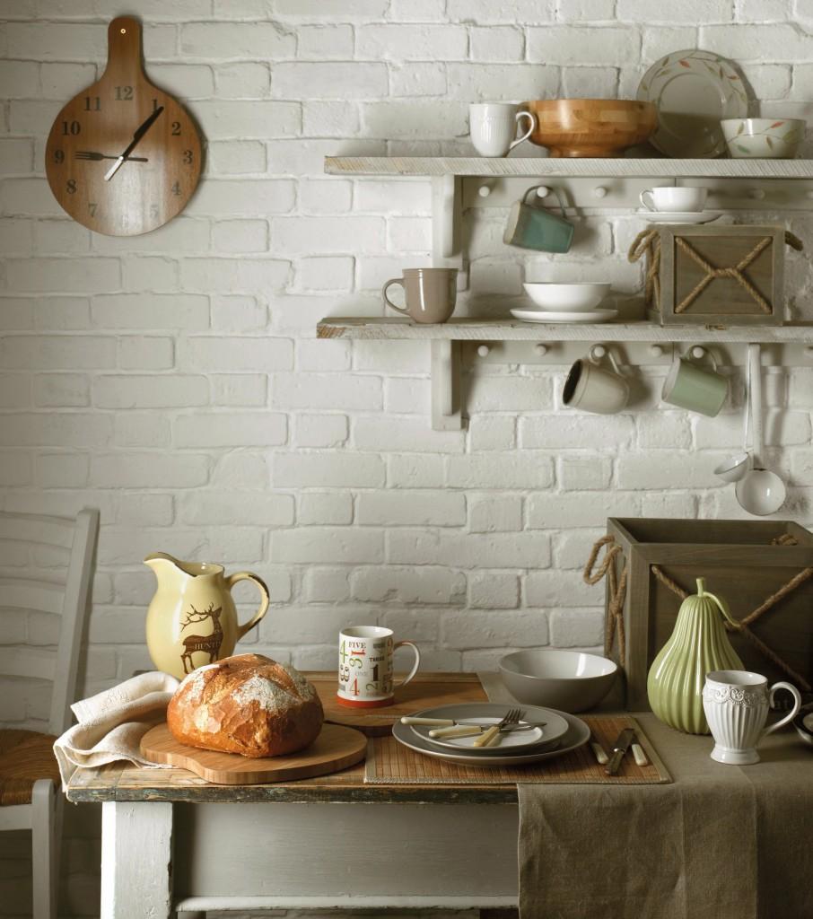 Полки для посуды в стиле прованс
