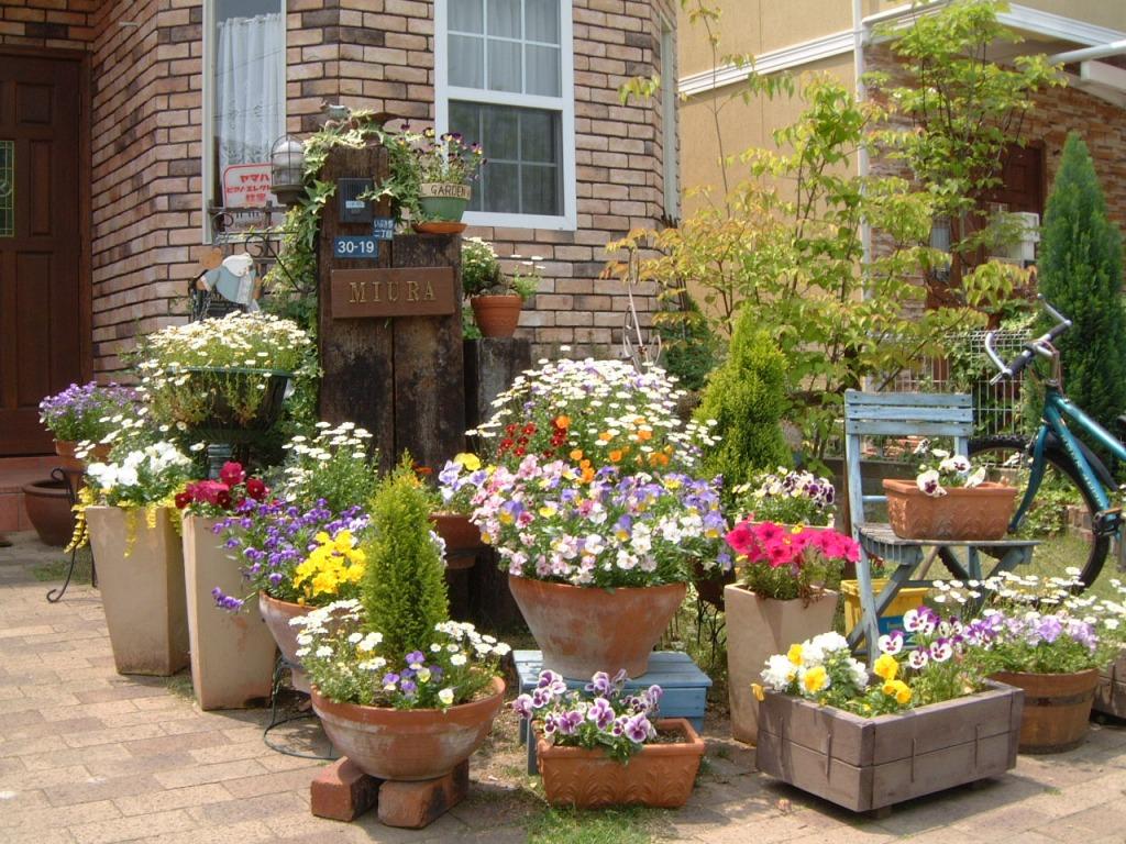 Вазоны для цветов в стиле прованс