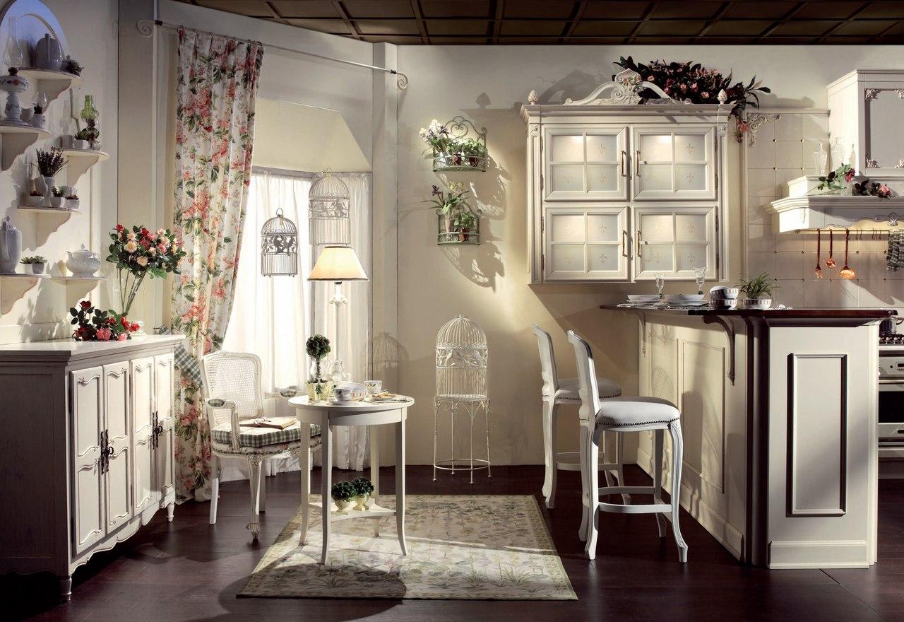 Оформление кухонного окна в стиле прованс