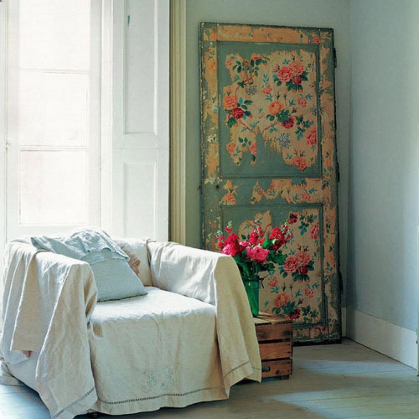 Декор двери в стиле прованс