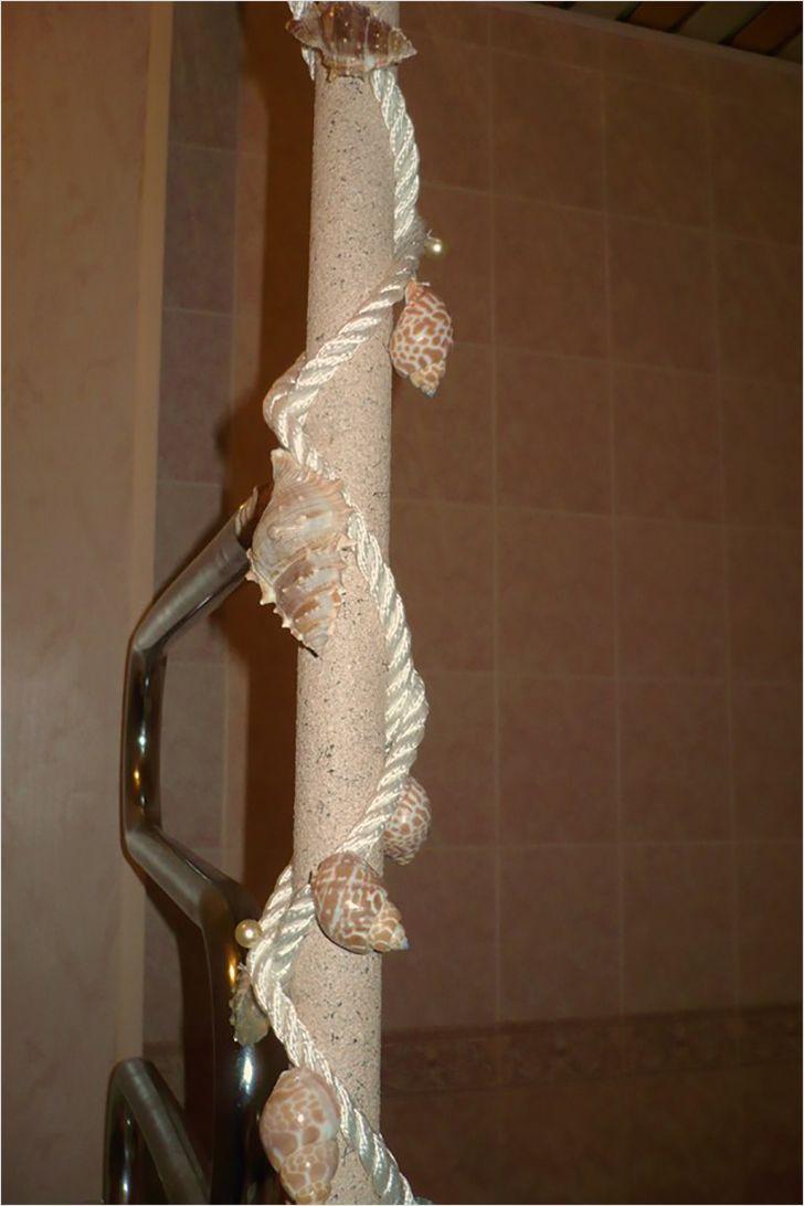 Декор трубы ракушками