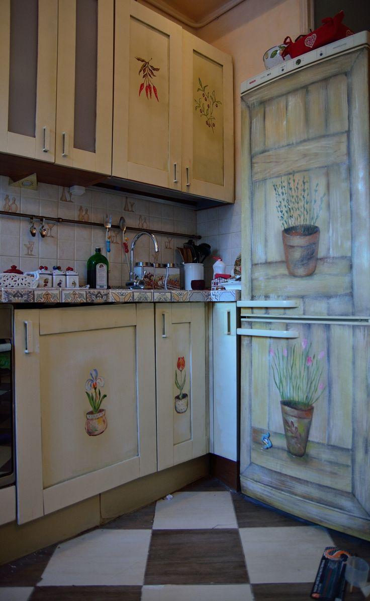 Расписной кухонный гарнитур