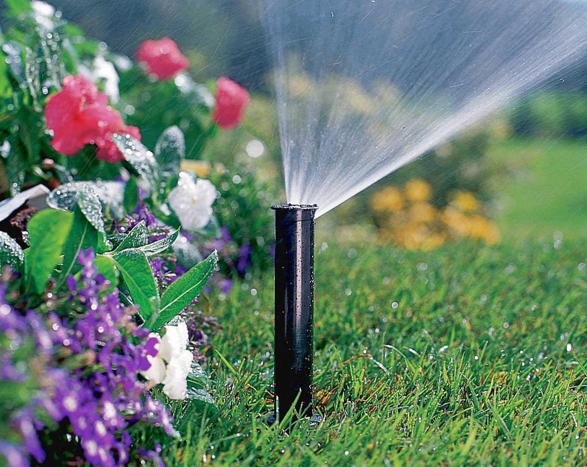 Система полива в саду