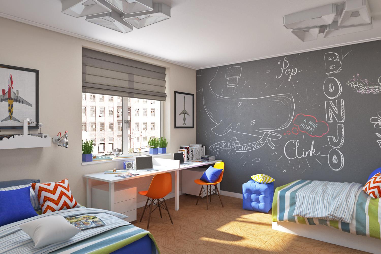 Расстановка мебели по зонам в детской