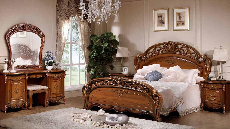 Резной спальный гарнитур
