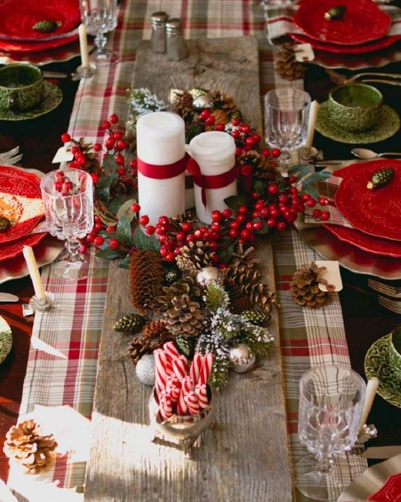 Декор свечи рождественский