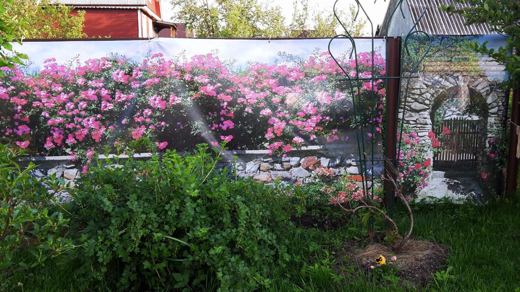 Фотосетка для декора сада
