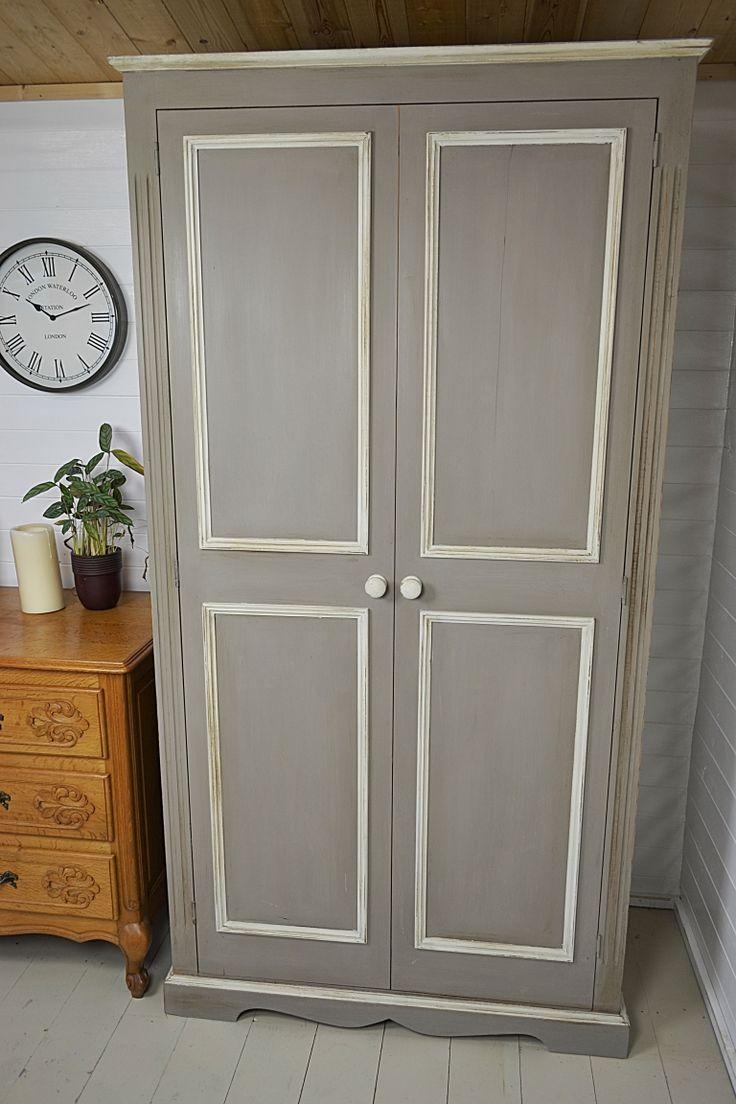 Декор серого шкафа