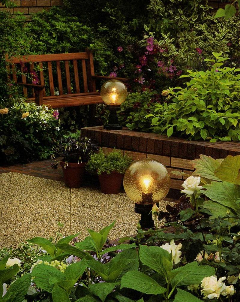 Шарообразные фонари для сада