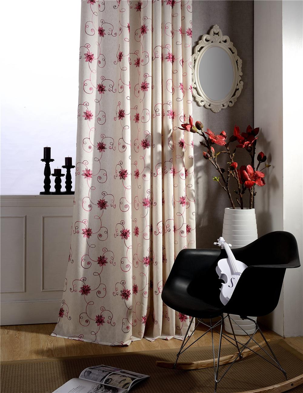 Шелковые шторы с цветами