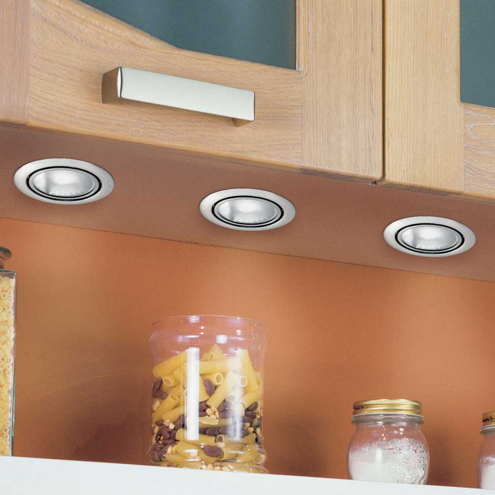 Кухонный шкафчик со светильниками