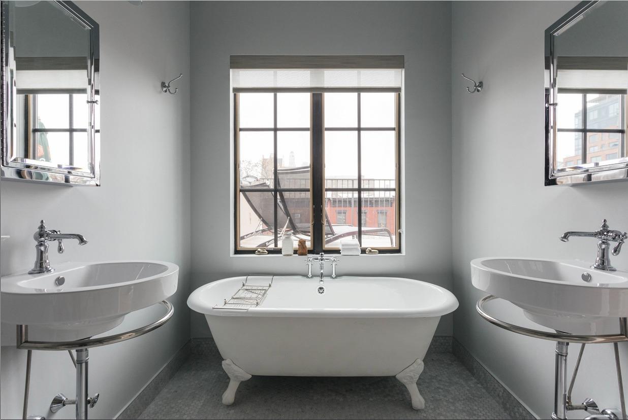 Отдельно стоящая ванна в скандинавском стиле