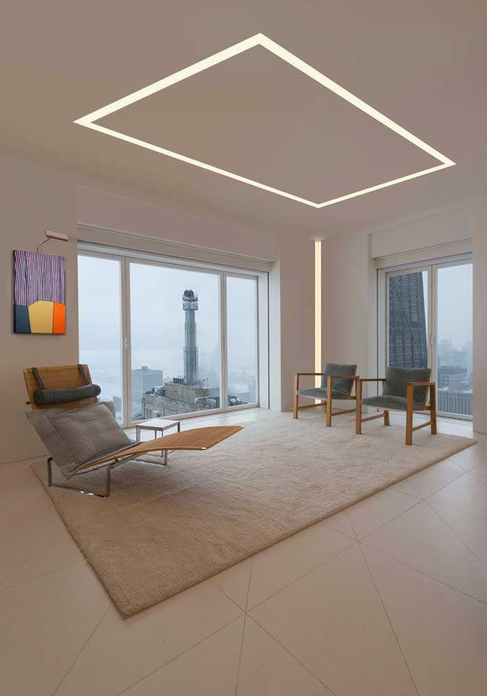 Потолок со светодиодной подсветкой скрытой