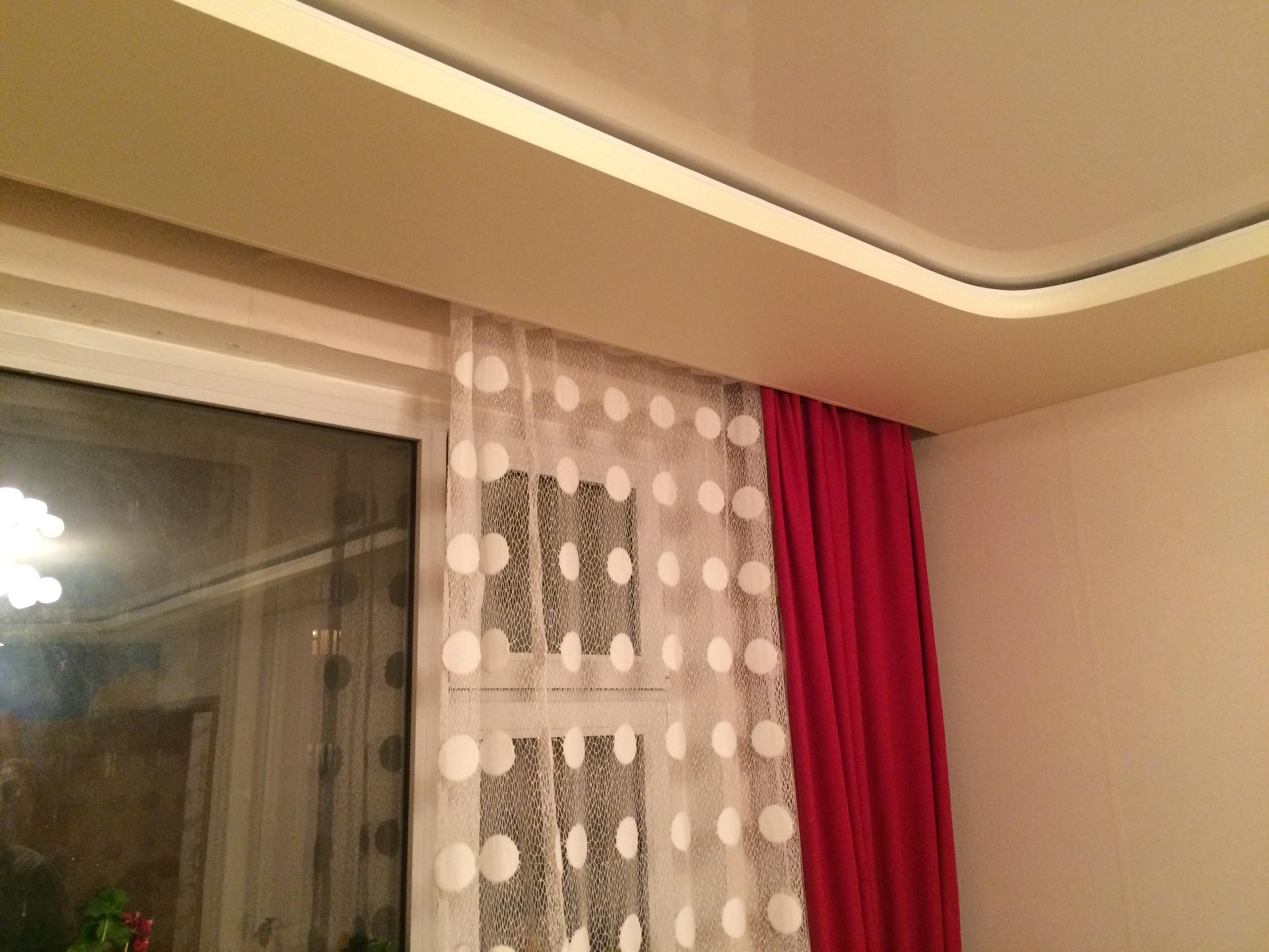 Скрытая потолочная шина для штор