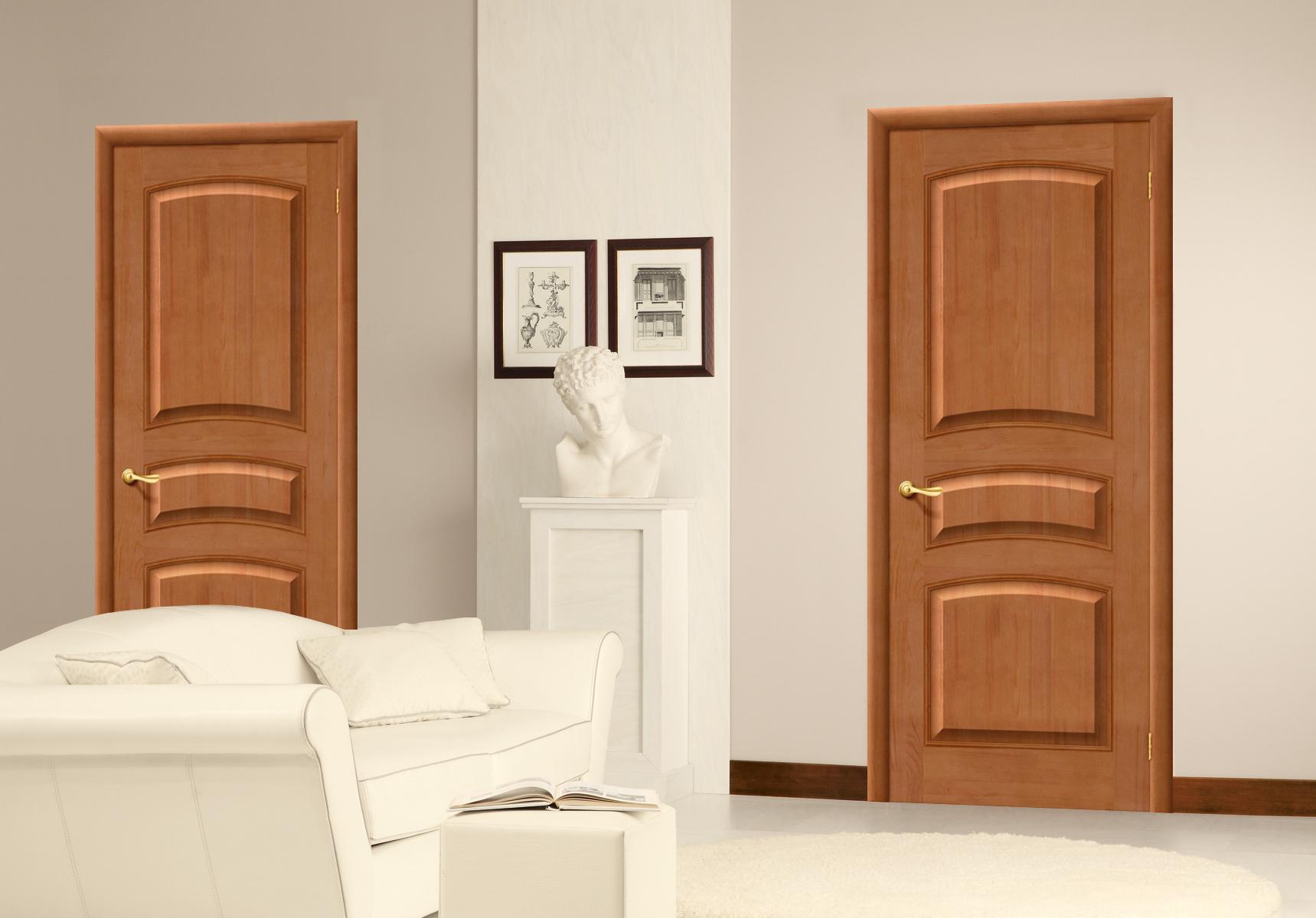 Сосновая дверь в интерьере