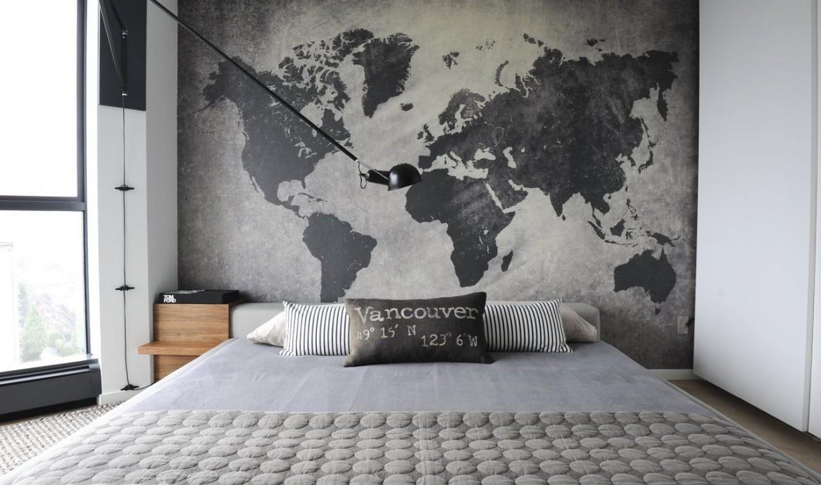 Карта в интерьере как предвкушение странствий (24 фото)