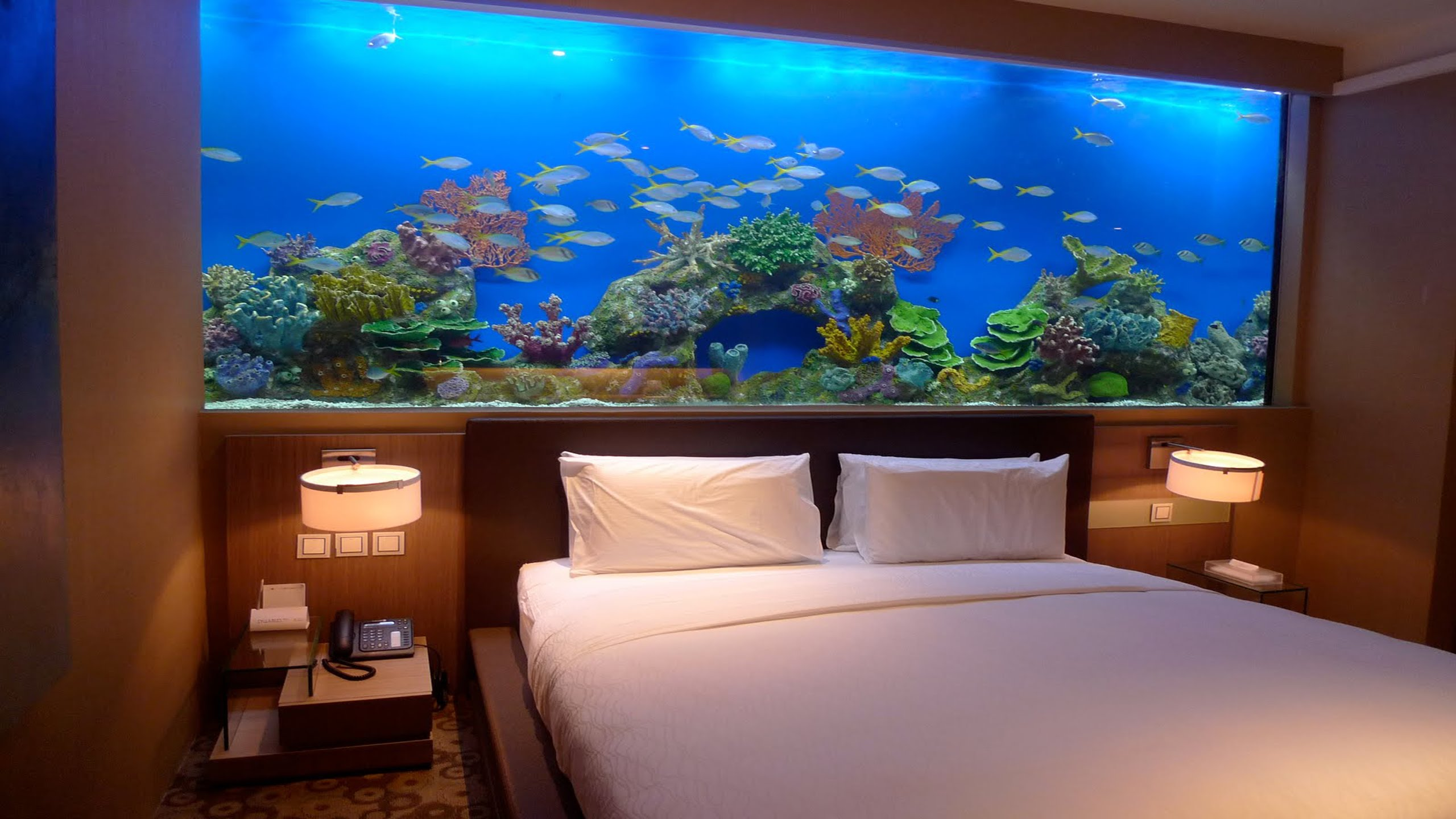Декор для аквариума в спальне