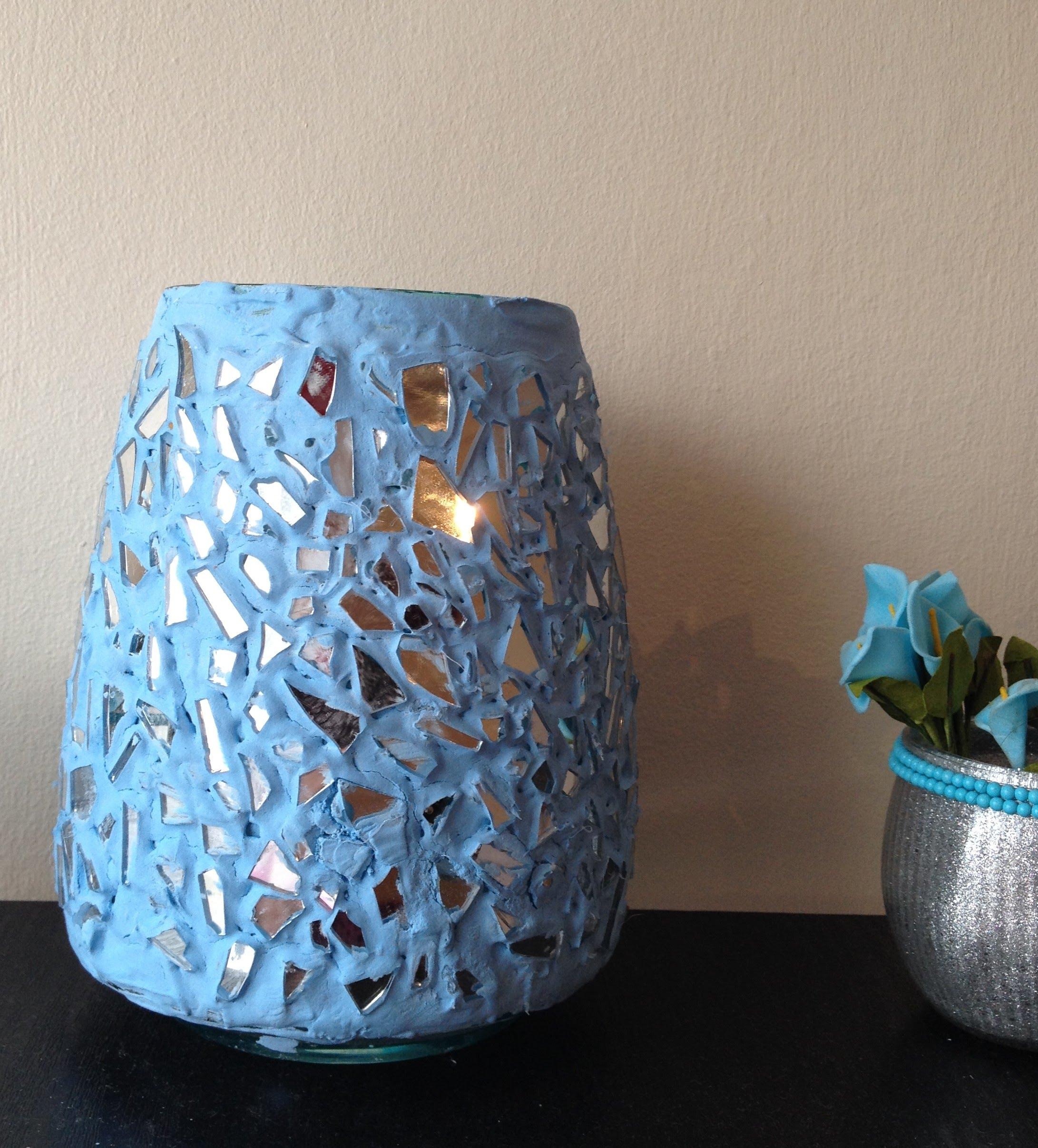 Декор вазы стеклом