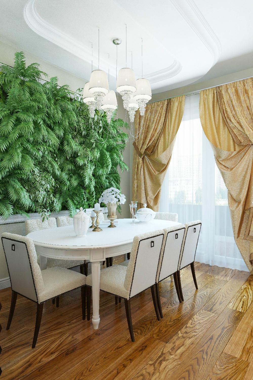 Вертикальное озеленение в столовой