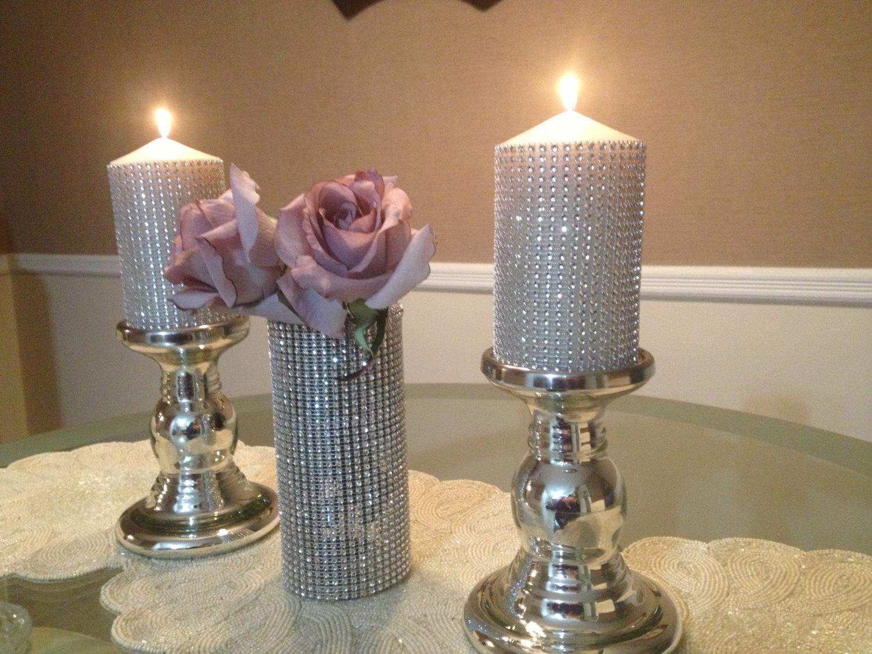 Декоративные свечи со стразами