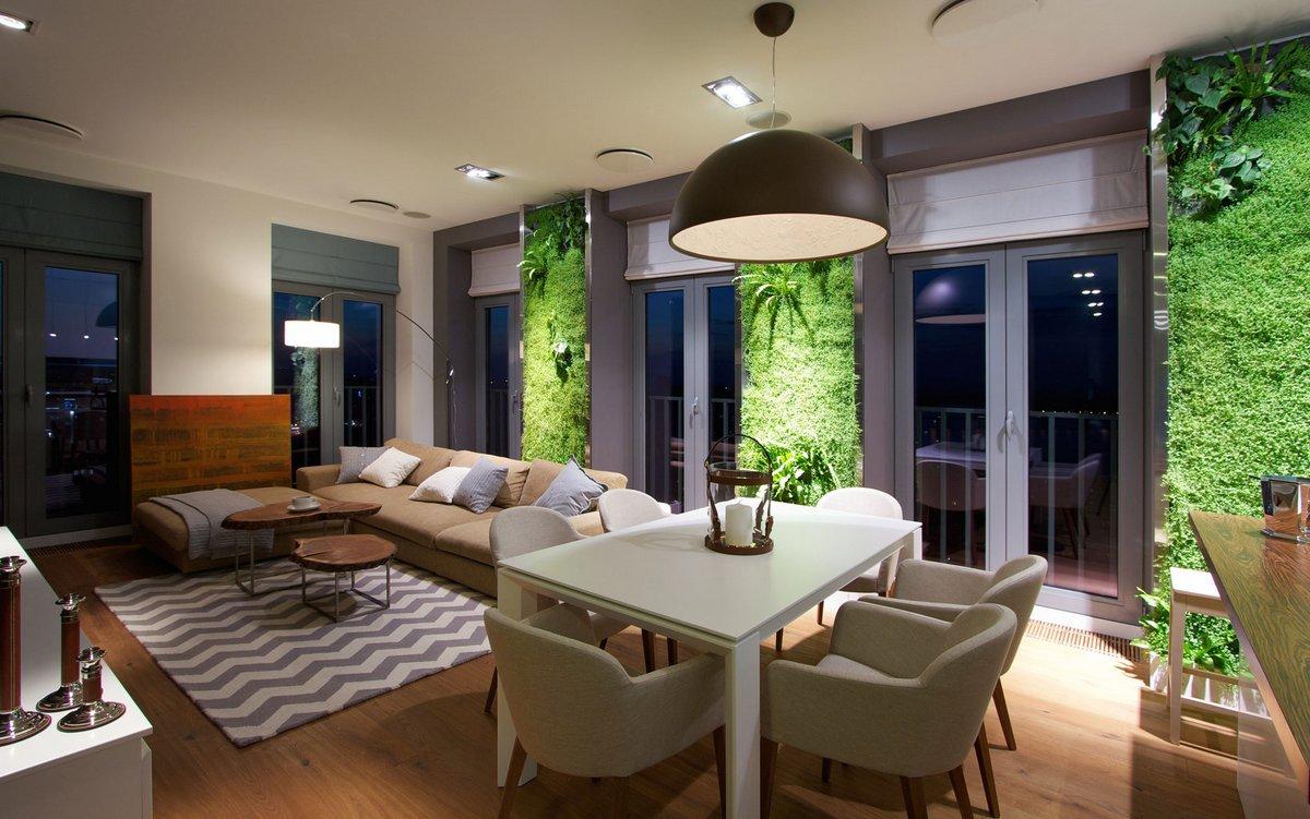 Трава в интерьере квартиры-студии