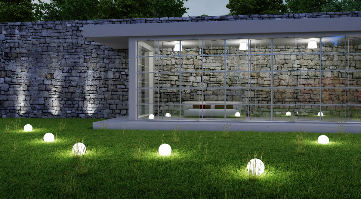 Садовые уличные светильники