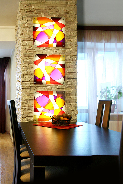 Цветные стеклянные светильники