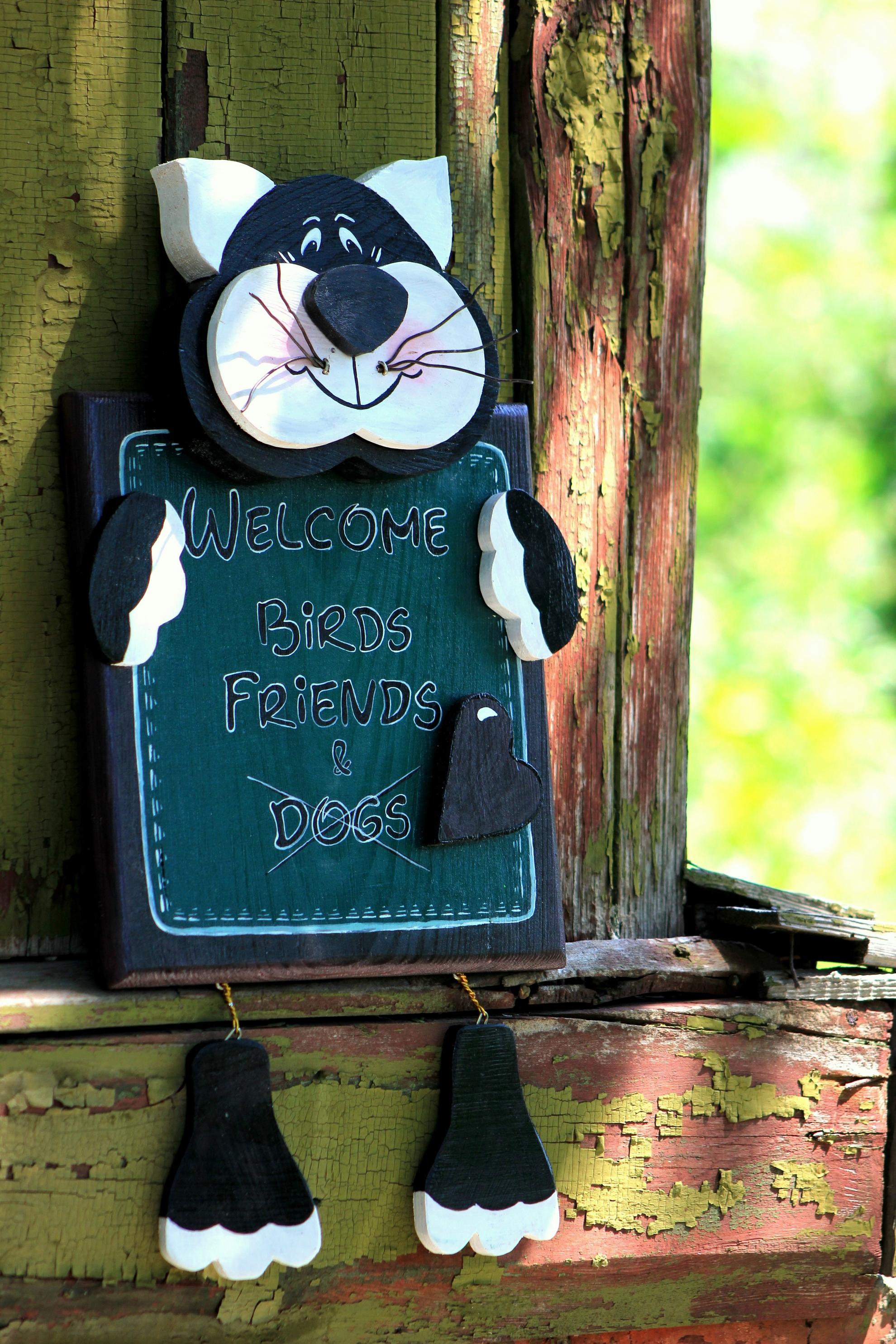 Декоративная табличка для сада