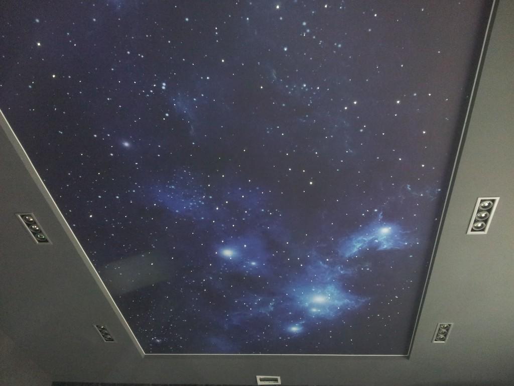 """Тканевый натяжной потолок """"звездное небо"""""""