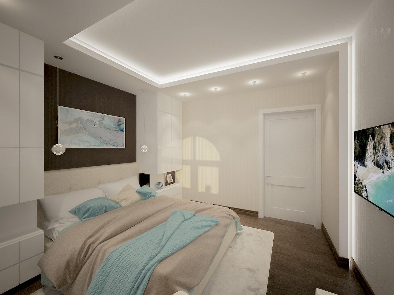 Точечная подсветка стены