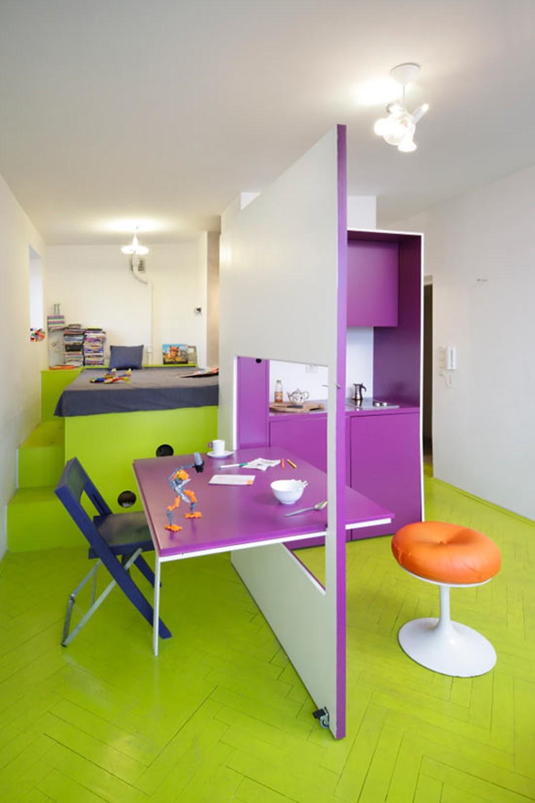 Мебель-трансформер в зонировании детской