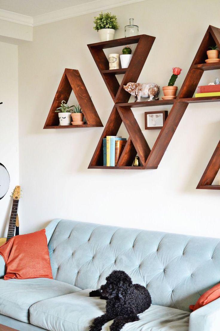 Книжные полки треугольной формы