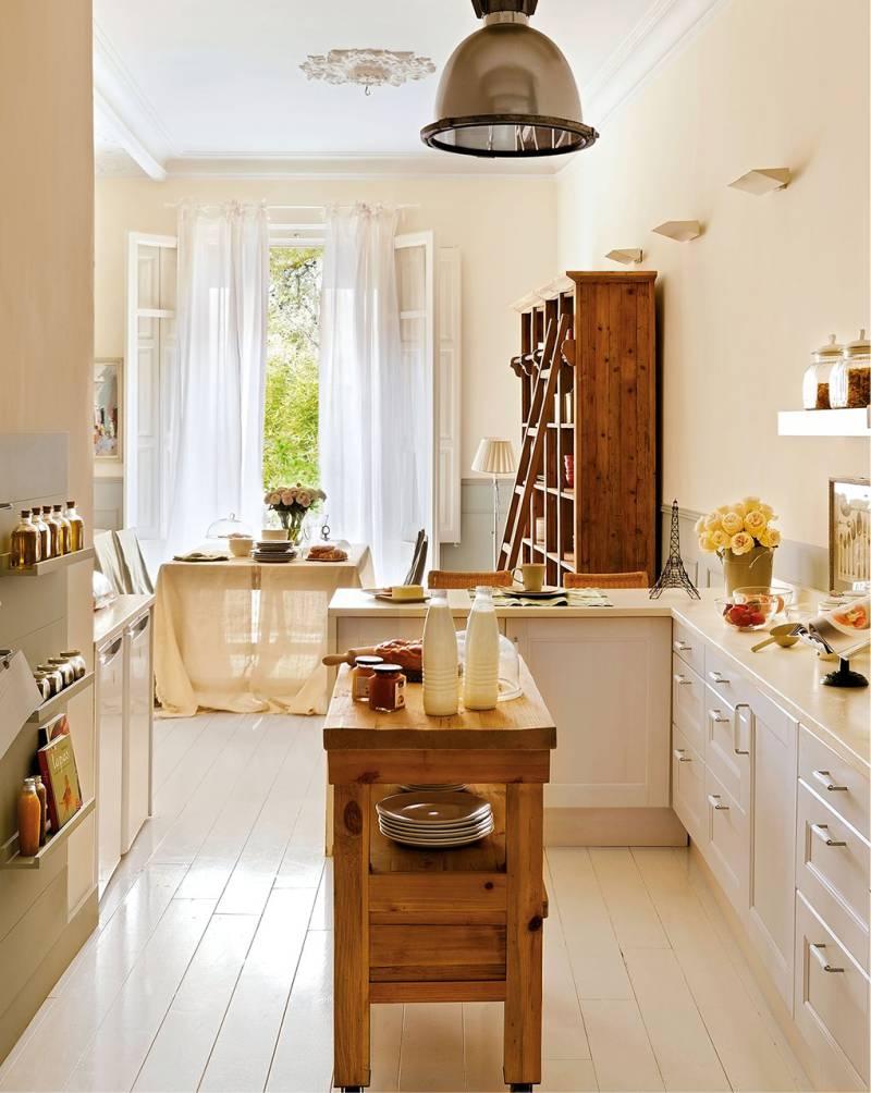 Декор кухонного окна тюлем