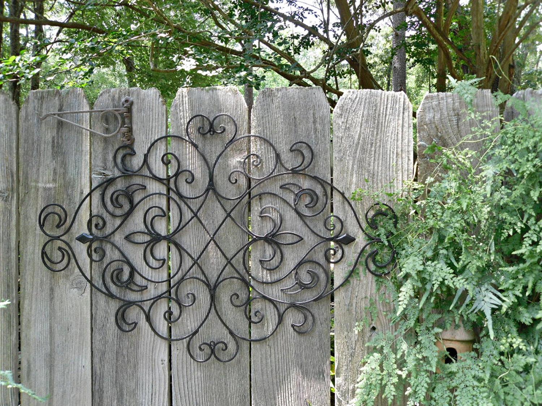 Металлическое украшение из металла для садового ограждения
