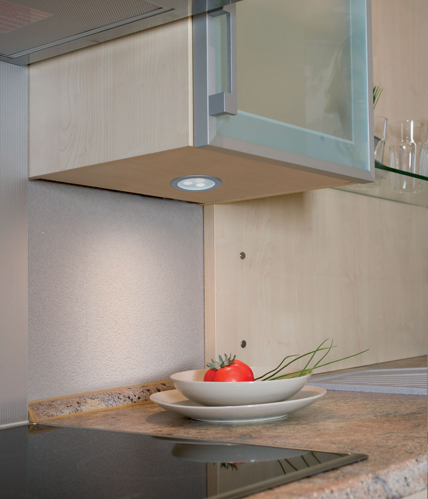 Установка мебельных светильников