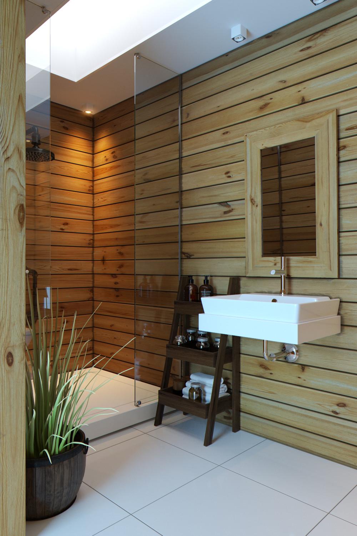 Евровагонка в ванной
