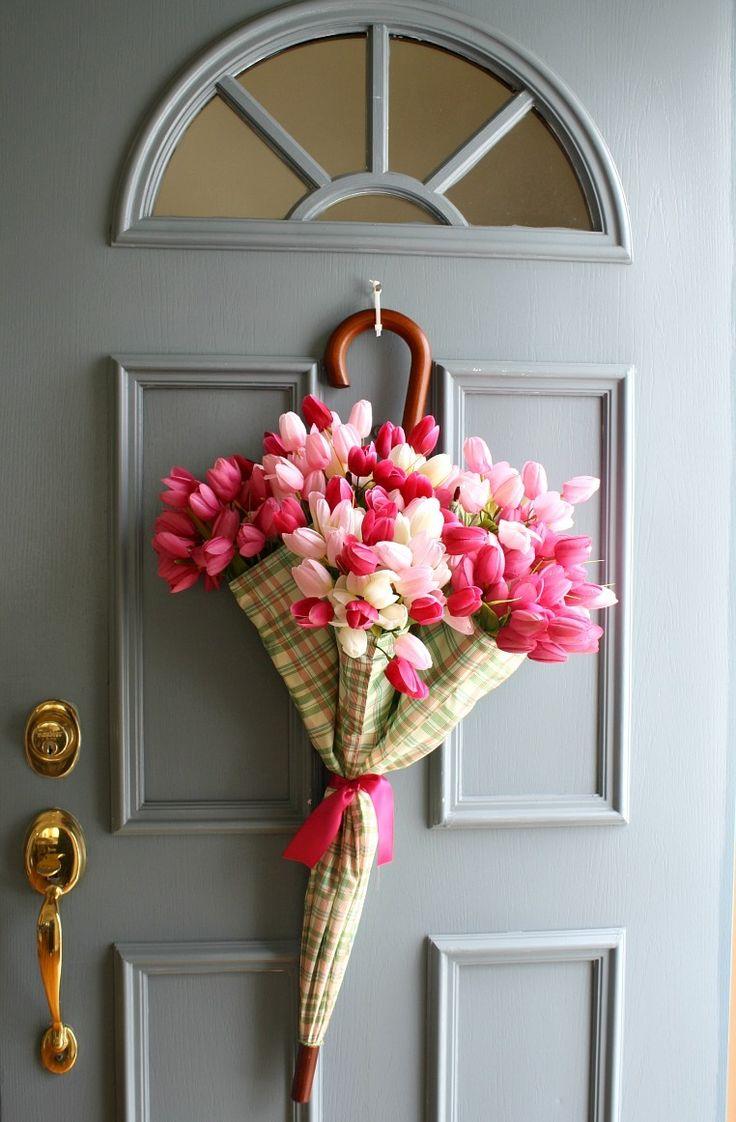 Весенний декор двери