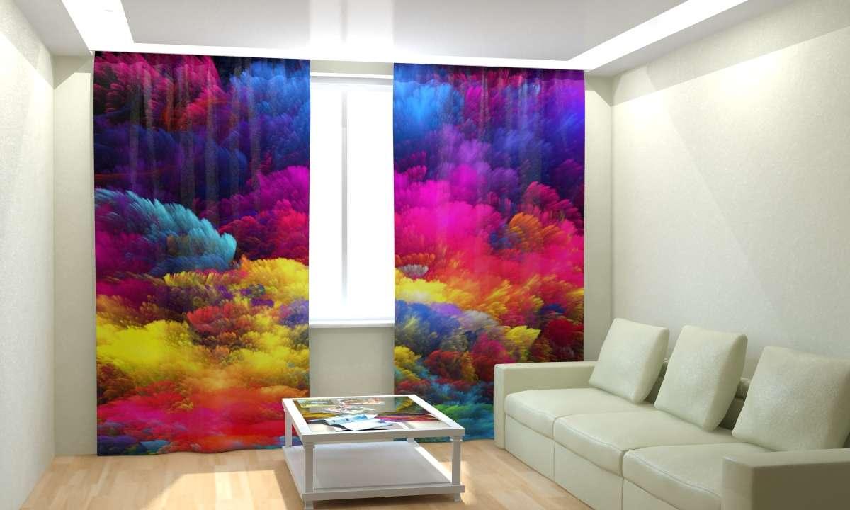 Яркие шторы 3D