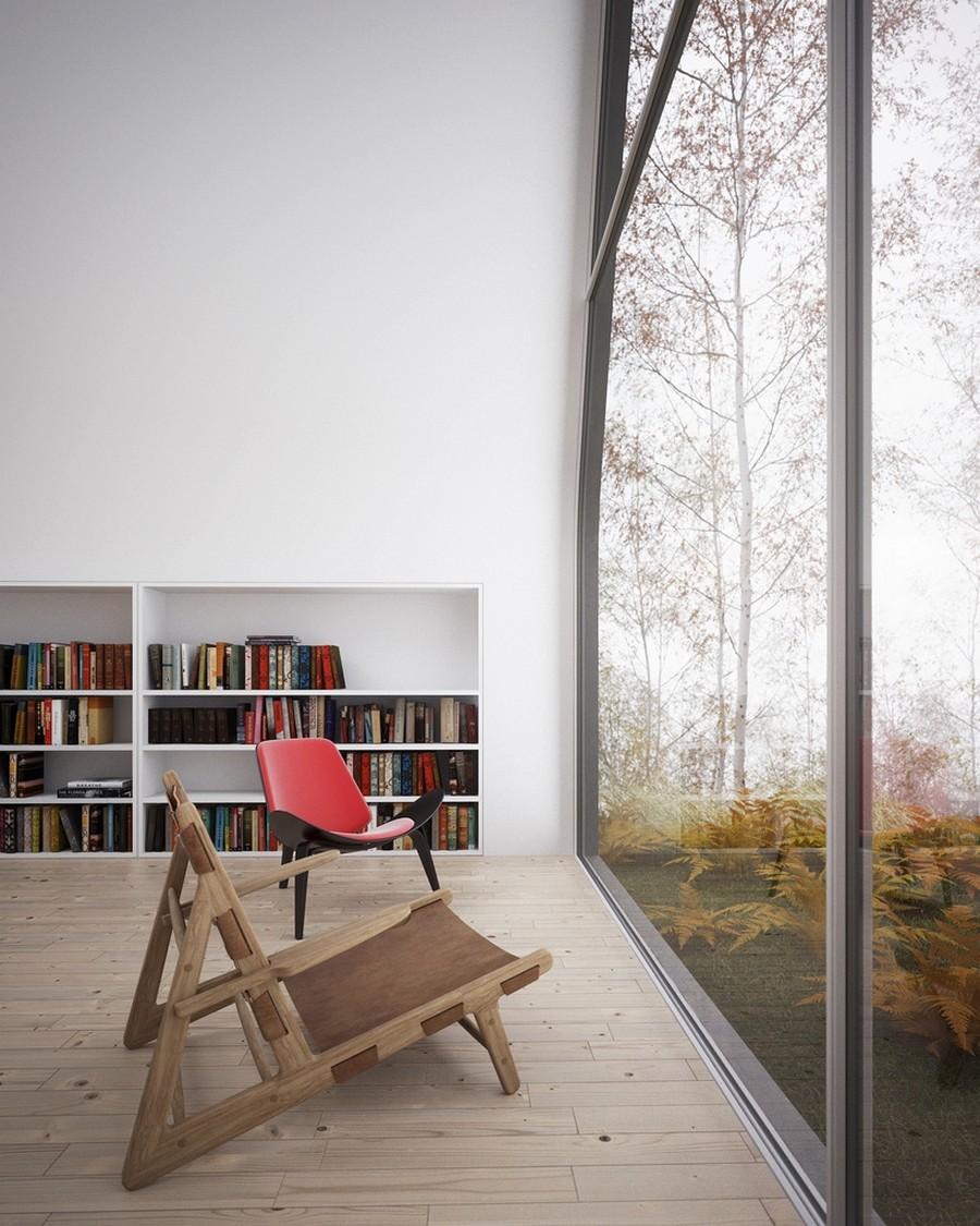 Место для чтения в загородном доме