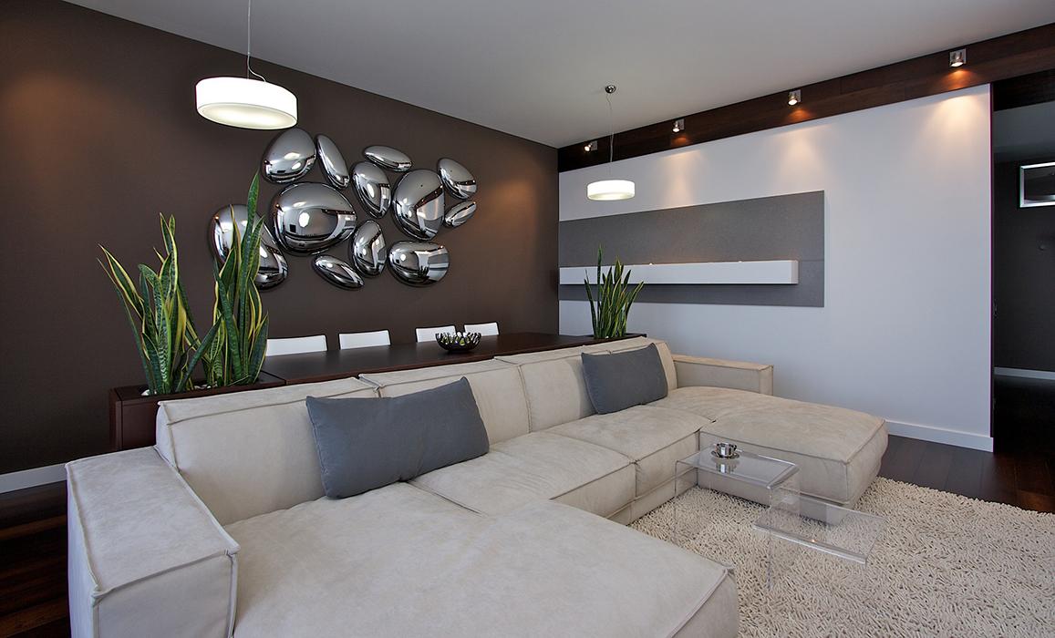 Замшевый диван в стиле хай-тек
