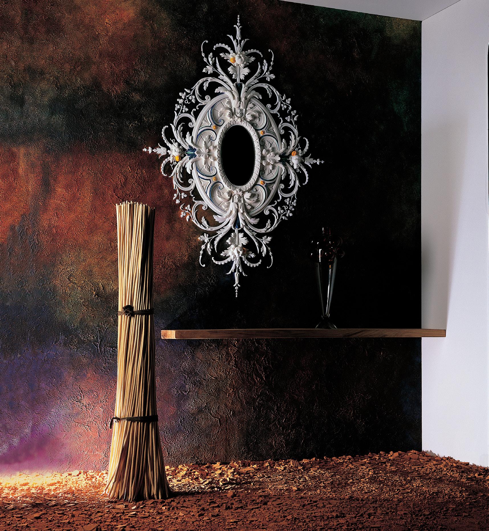 Декор из гипса для зеркала