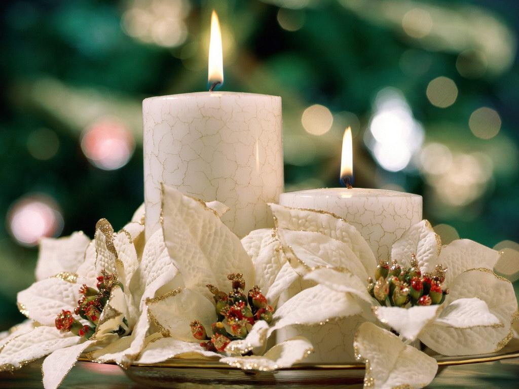 Золотой декор свечи