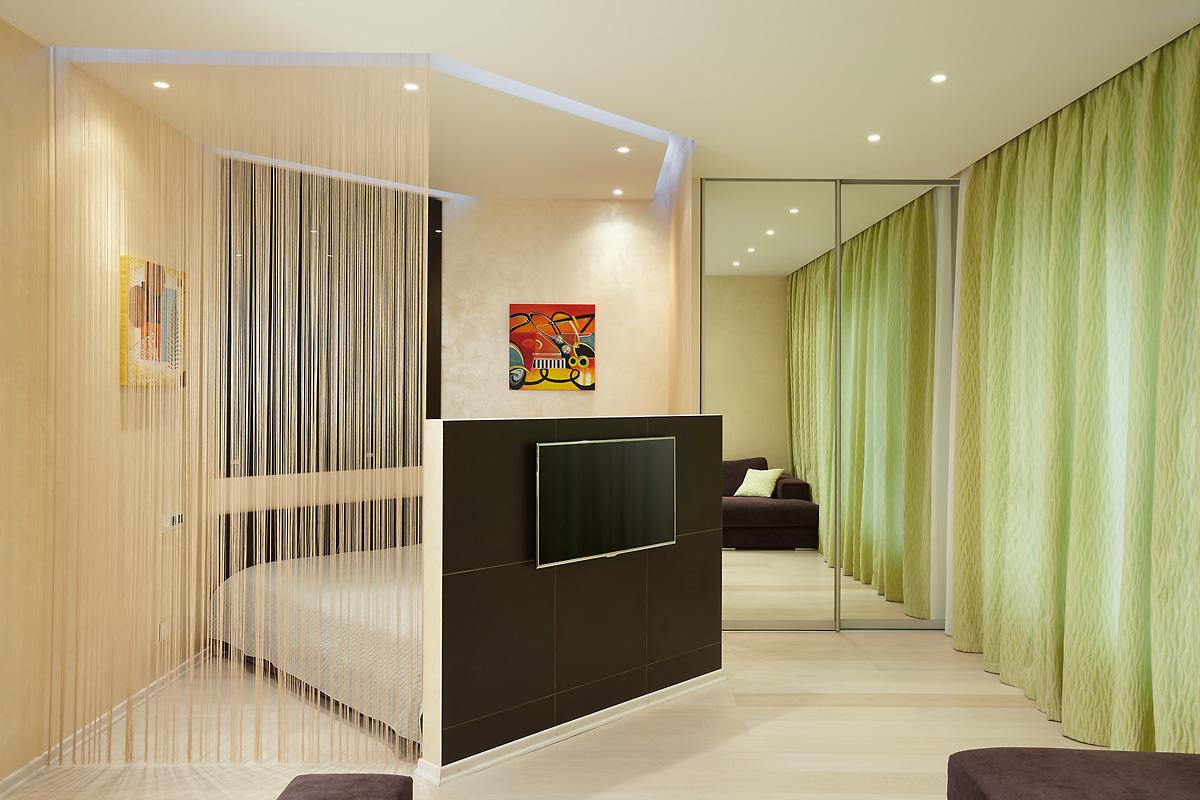 Зонирование комнаты светодиодной подсветкой потолка
