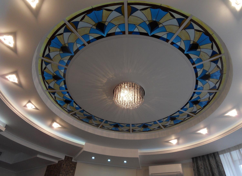 Алюминиевый витражный потолок