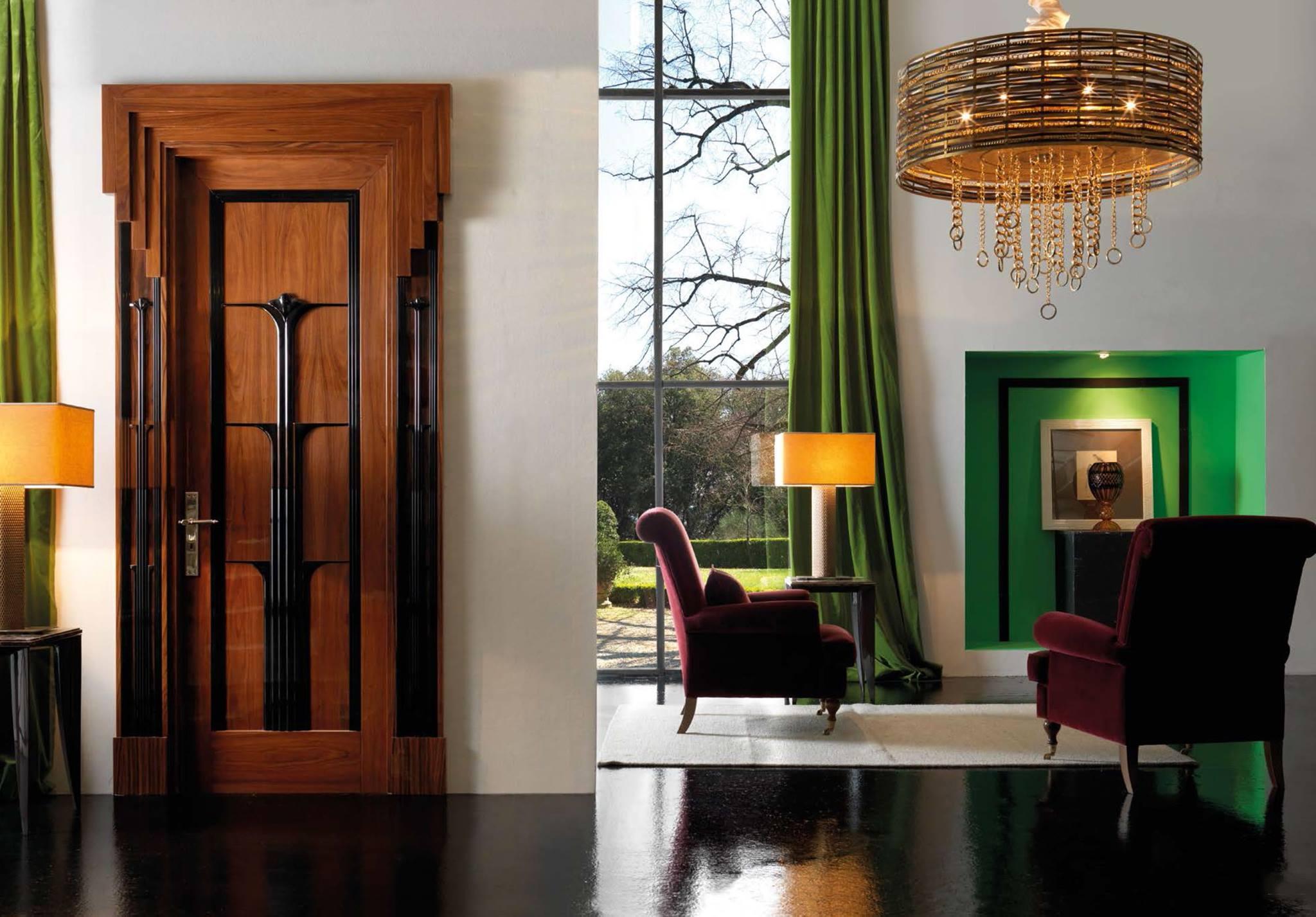 Дверь из палисандра в стиле ар-деко