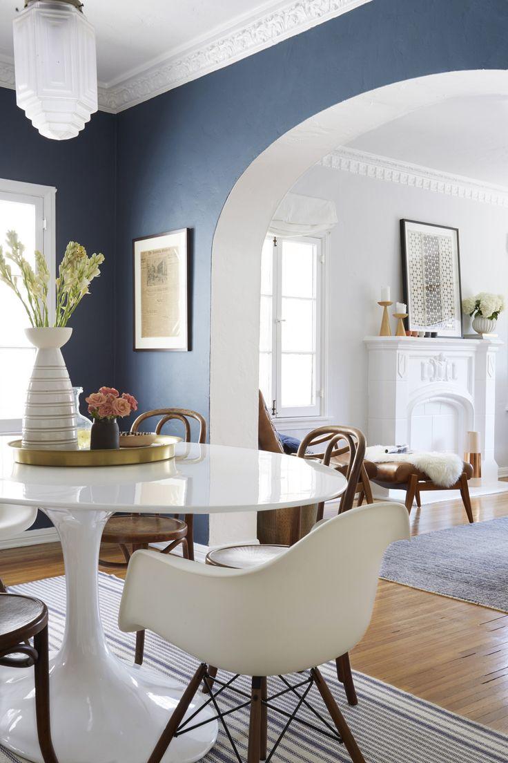 Перегородка арка между кухней и гостиной