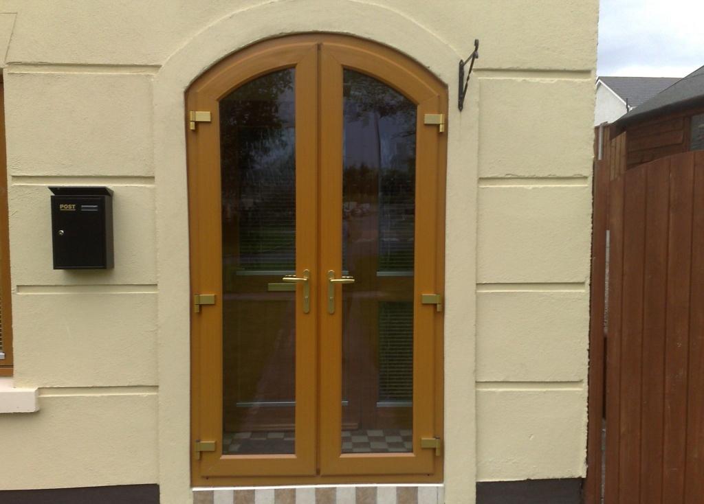 Арочная дверь из ПВХ