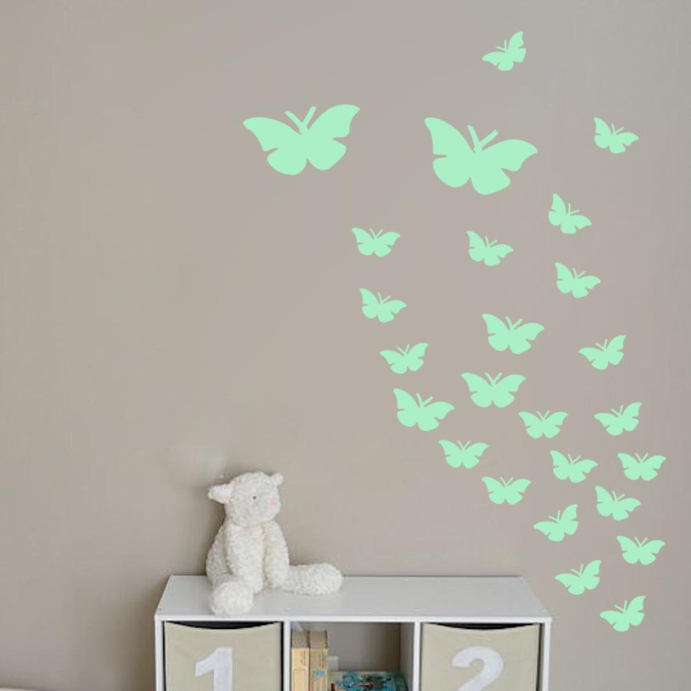 Светящиеся обои с бабочками