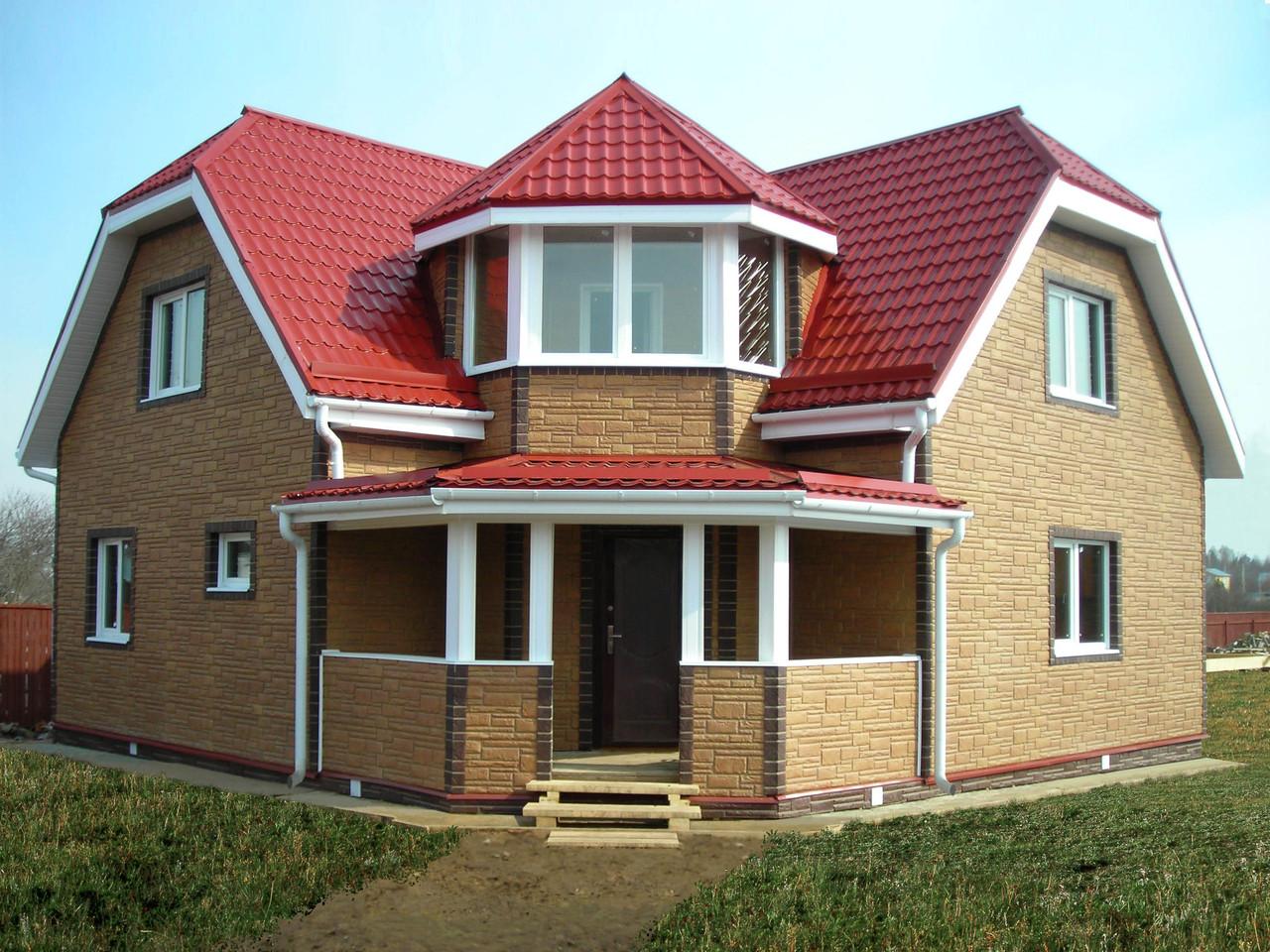 Проект дома из пеноблоков с балконом